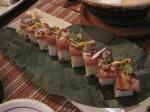 偽物じゃない本物の寿司。味も日本で食べるのと変わらなかった。