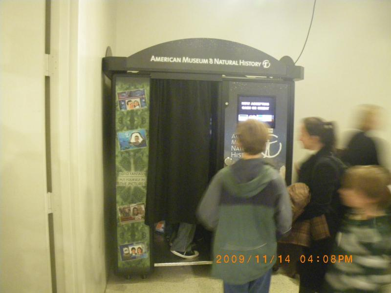 AMNHにはプリクラがありました。