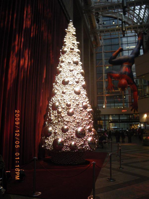 Christmas Tree。そしてなにやら後ろに不思議なものが…。